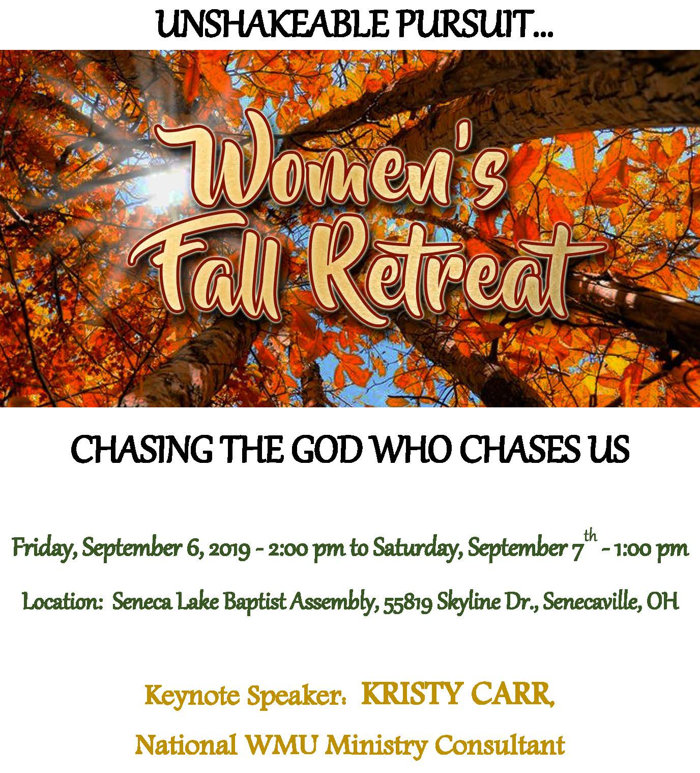 Women's Fall Retreat & Mission Celebration | scbo org