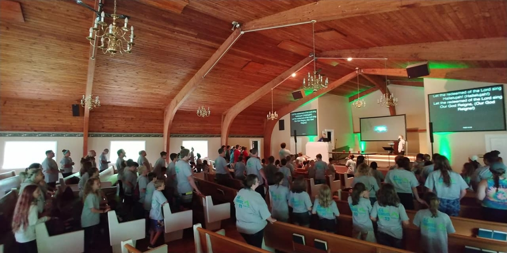 Worship in the chapel